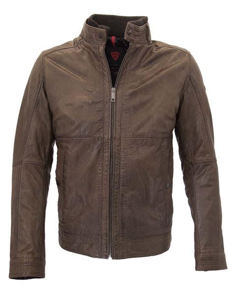Jacket Coat Parka Strellson Original strellson moss 2 140018 mens brown leather jacket 100 genuine leather ebay