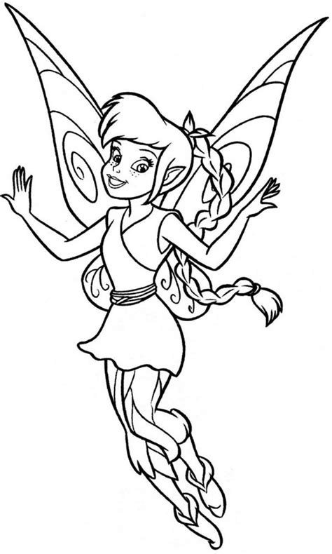 Golden Rosetta Eiffel lovely fawn from disney fairies coloring page