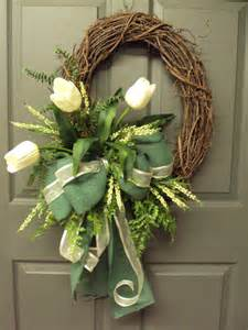 Spring wreath summer wreath grapevine oval wreath front door wreath