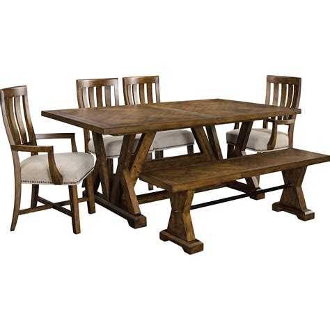 broyhill bench broyhill furniture pieceworks trestle table and