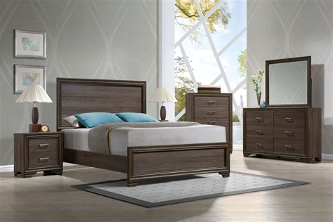 Solid Wood Cal King Bedroom Sets by Cyrille Contemporary Walnut Solid Wood 5pc Bedroom Set W