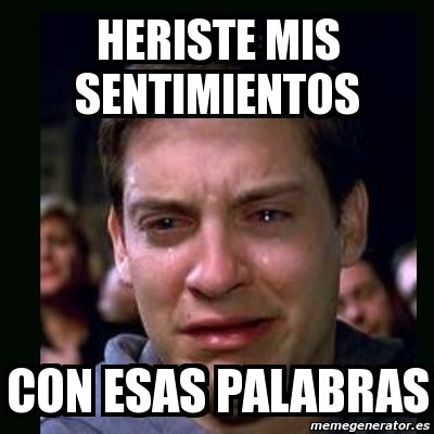 Meme Generator Two Pictures - meme crying peter parker heriste mis sentimientos con