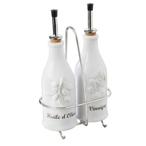 Inox Vinaigre Blanc by Ensemble Huile Vinaigre Avec Support Inox En Porcelaine
