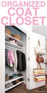 Coat Closet Shelving Organized Coat Closet Makeover Add Some Shelving For