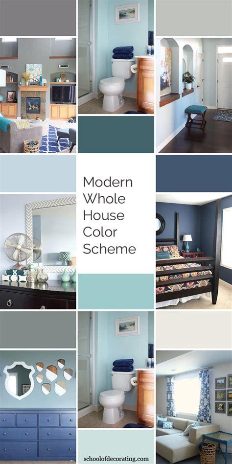 modern  house color scheme school  decorating