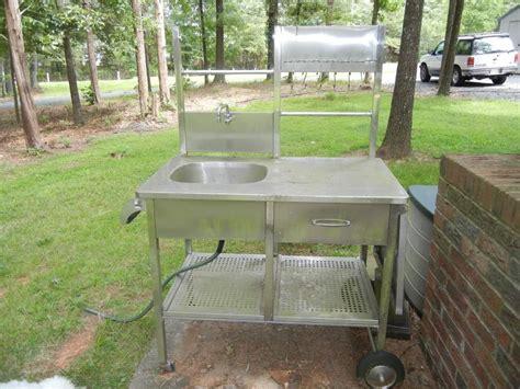 portable outdoor sink cart outdoor decorations