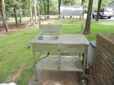 Portable Outdoor Sink Cart ? Outdoor Decorations