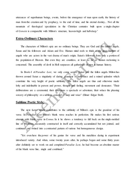 Paradise Lost Essays by Paradise Lost Essay Topics Paradise Lost Essay Topics