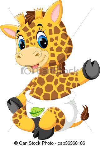 ilustraciones vectoriales de jirafa caricatura vector beb 233 lindo jirafa caricatura lindo jirafa caricatura
