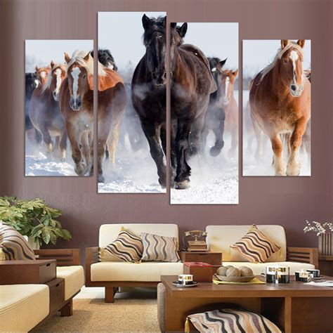 q where to purchase horse wall art home decor wall decor unframed 4 pcs high quality cheap art pictures running