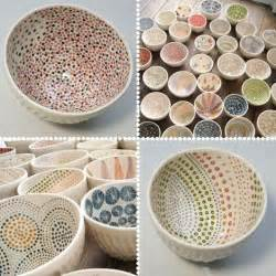 the pointillism style on these bowls easy to create