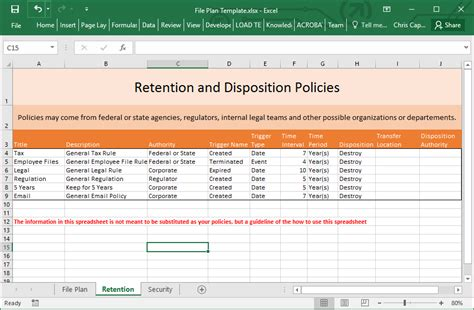 records management policy template excellent data retention policy template gallery exle