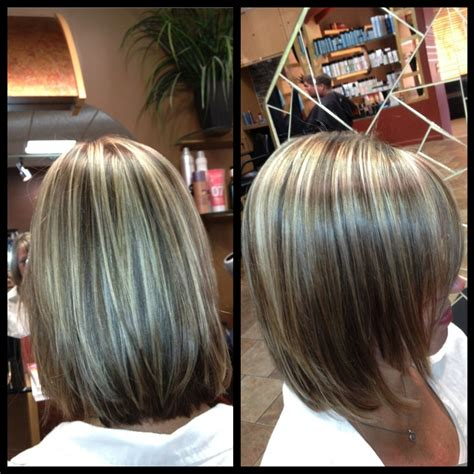 color highlights to blend gray into brown hair light natural level 5 with 25 gray lifted highlights to