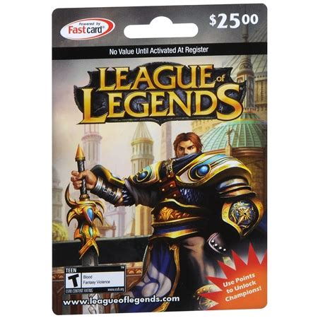 League Gift Cards - league of legends 25 gaming gift card walgreens