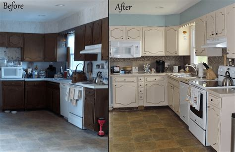 repainting kitchen cabinets before and after kitchen cabinets refinishing