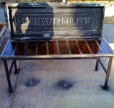truck tailgate bench seat tailgates chair chevy pickups pinterest tailgate