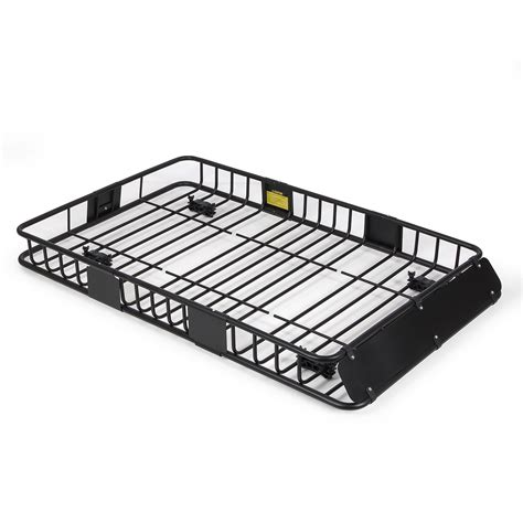 Rack Roof 64 quot universal black roof rack cargo carrier w extension luggage hold basket suv ebay