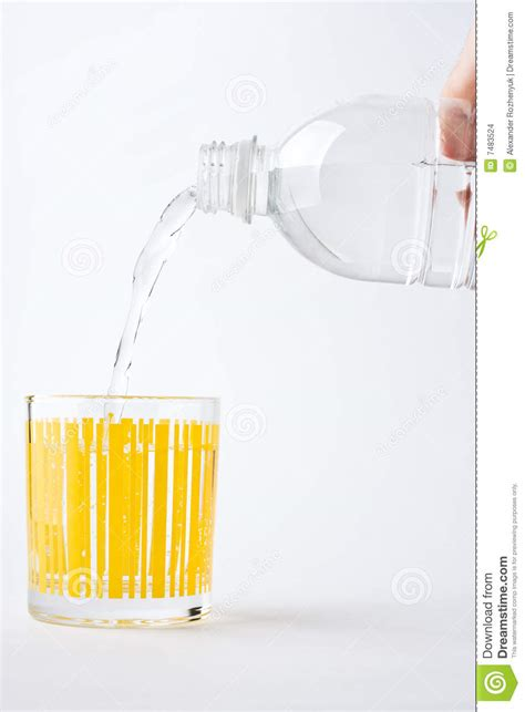 What To Fill Glass With Fill Glass Of Mineral Water Stock Images Image 7483524