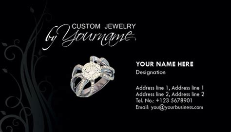 jewelry business cards templates free studio visiting card design tutorials in coreldraw