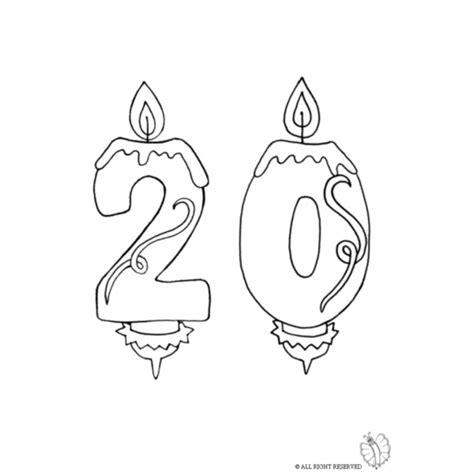 immagini candele compleanno disegno di venti anni candeline compleanno da colorare per
