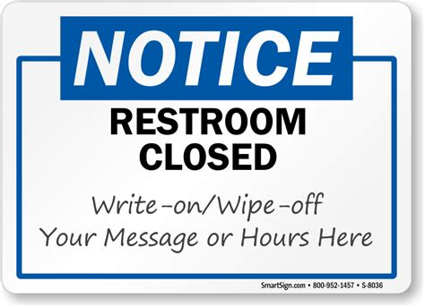 bathroom closed sign restroom closed for cleaning signs