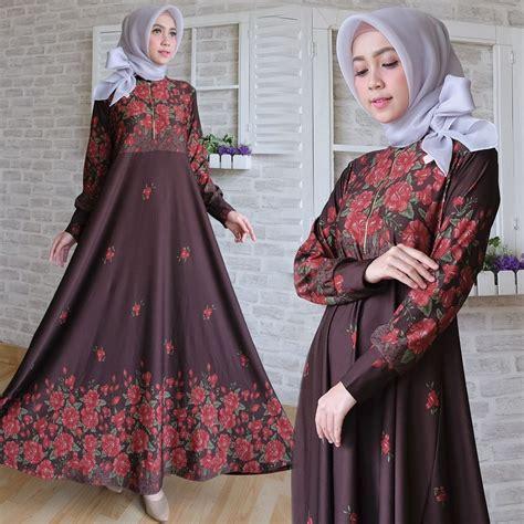 Maxi Maxmara Batik Bunga 5 Warna baju gamis maxi calvin busana muslim motif bunga