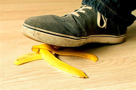 Banana Peel slip and fall accidents when a banana peel can cost big bucks