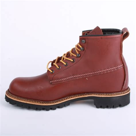 wing cutter 2931 mens laced leather boots shoes