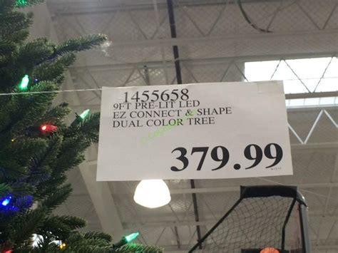 costco 1455658 pre lit le ez connect dual color christmas