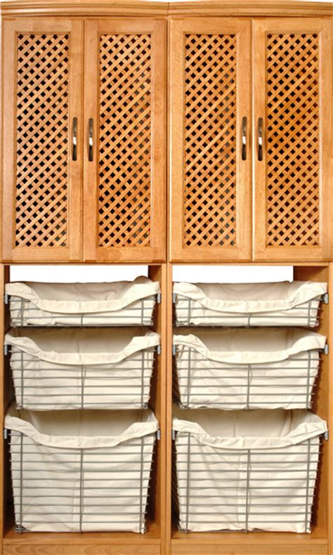 Wardrobe Basket Systems by Closet Systems Solid Wood Maple Spice Metal Baskets