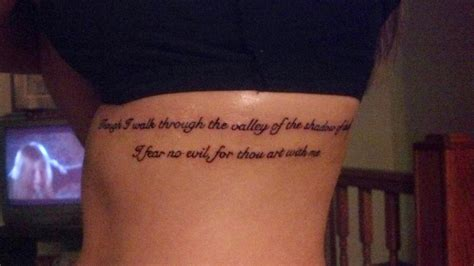 fear no evil tattoo my though i walk through the valley of the