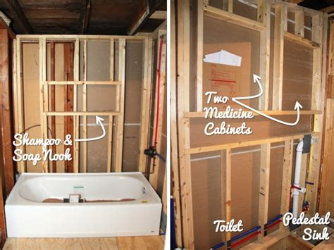 rough in bathtub plumbing in the downstairs bathroom blog