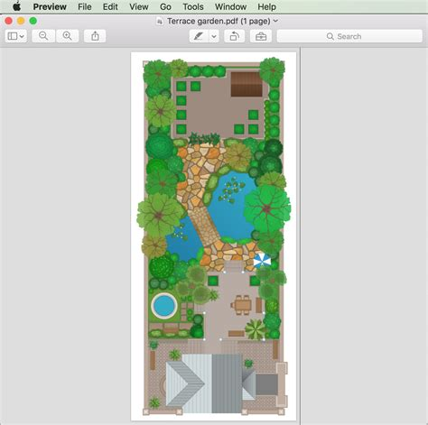 draw  landscape design plan