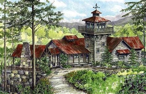 House With Tower 192 Best Images About Mountain Homes On Pinterest House