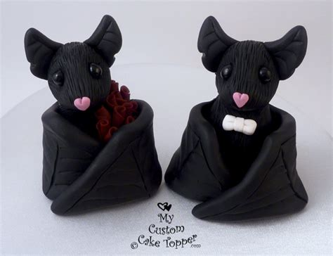 Black Bat Wedding Cake Topper   My Custom Cake Topper