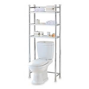 buy no tools chrome glass bathroom space saver from bed
