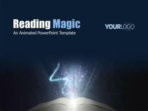 reading powerpoint template reading magic a powerpoint template from presentermedia
