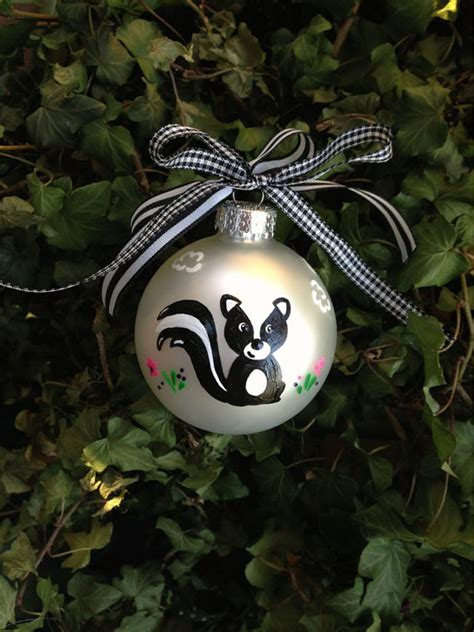 skunk ornament christmas keepsake woodland animal baby