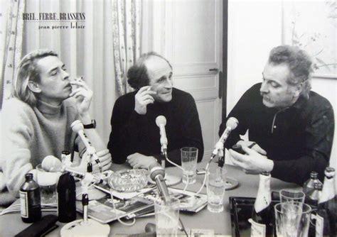 michel bouquet leo ferre trois hommes dans un salon jacques brel l 233 o ferr 233