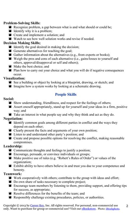 list of skills and abilities to put on a resume fluently me