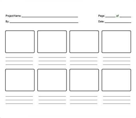 printable template storyboard sle storyboard template 15 free documents download