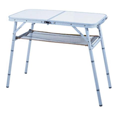 alu tisch klappbar stylish cing aluminum folding table with mesh shelf