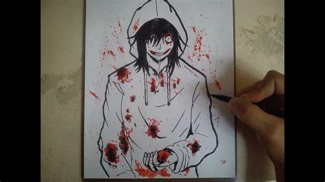imagenes de jeff the killer para dibujar a lapiz facil como dibujar a jeff the killer how to draw jeff the