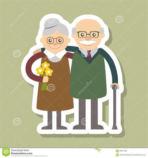clipart nonni illustrazione di vettore giorno felice dei nonni