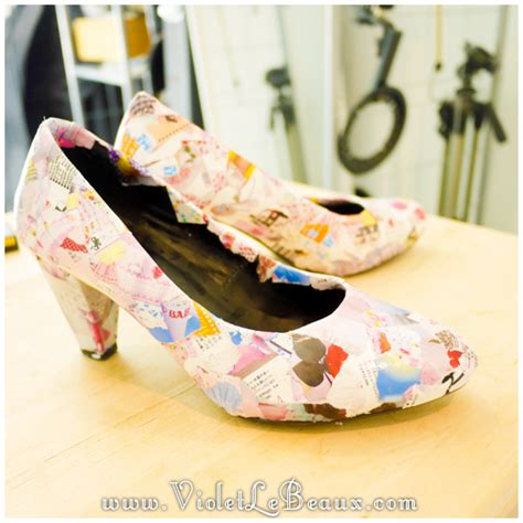 Decoupage Shoes Diy - how to diy decoupage shoes tutorial violet lebeaux