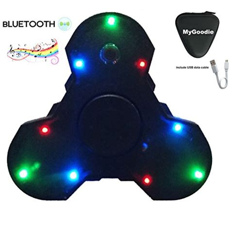 Spinner Bluetooth Musik my goodie led light mini bluetooth audio spinner speaker for add adhd autism