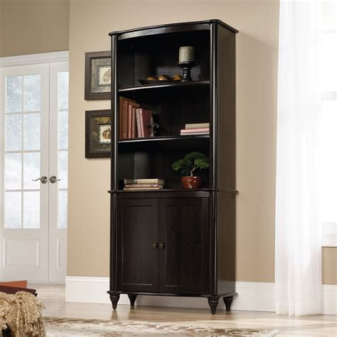sauder bookcase with doors sauder new albany library bookcase with doors bookcases