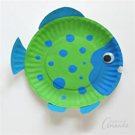 How To Make Fish Out Of Paper Plates - paper plate tropical fish a vibrant and paper plate