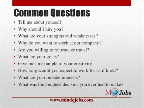 Tell Me About Yourself For Mba Freshers by Mindqjobs Fresher Hr Questions
