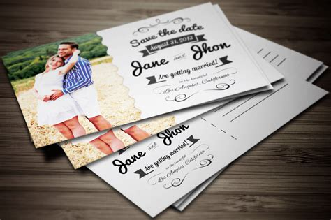 postcard wedding invitations template 90 gorgeous wedding invitation templates design shack